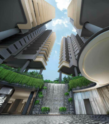 one-north-eden-condo-entrance-water-feature-singapore