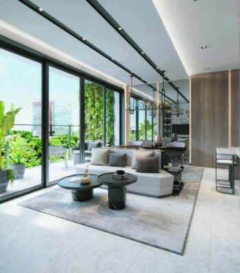 One North Eden Penthouse Living Room