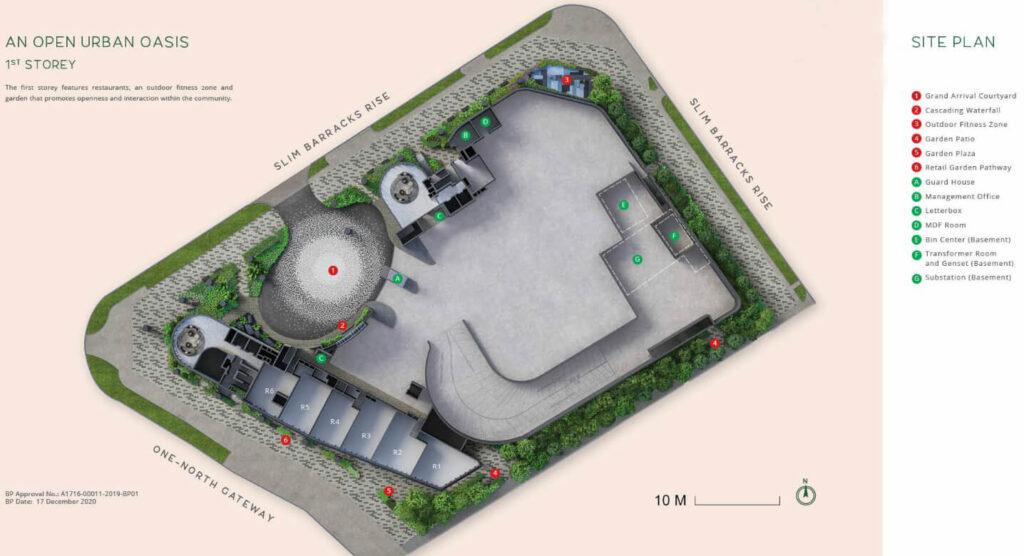 One North Eden first storey site plan