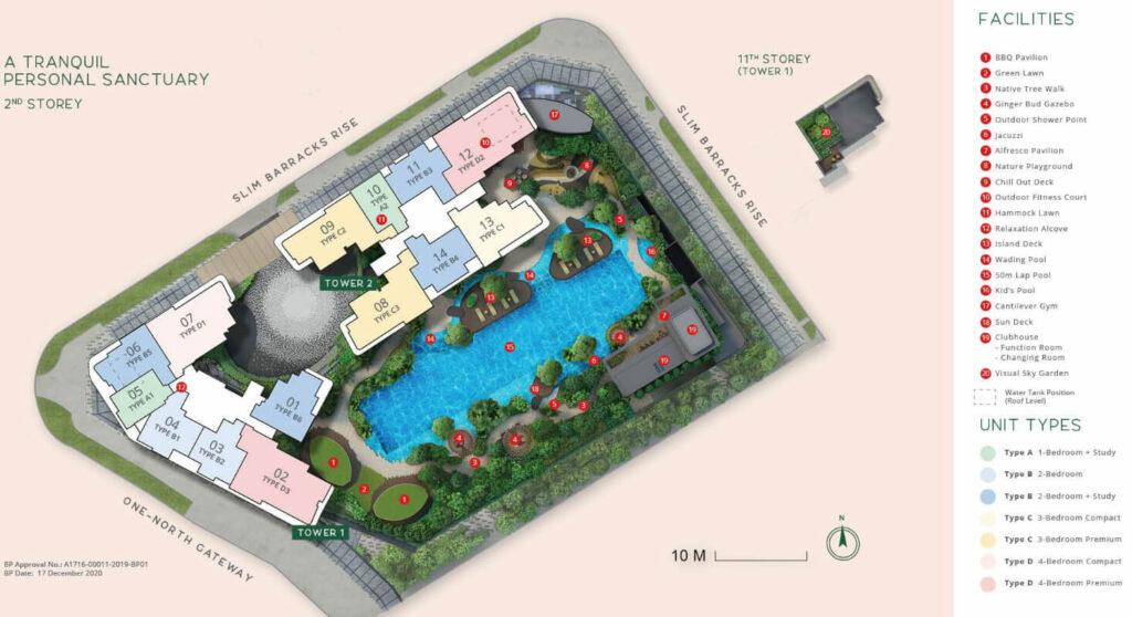 One North Eden second storey site plan