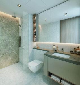 One North Eden condo unit bathroom